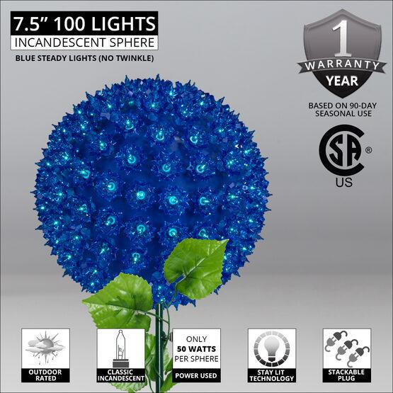 """7.5"""" Light Sphere Stake, Blue"""