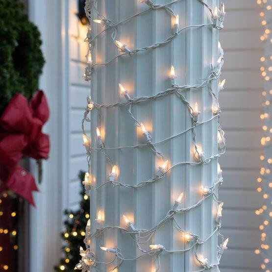 "Column Wrap Lights, 6"" x 15', White Frost, White Wire"