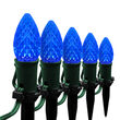 "OptiCore C7 LED Walkway Lights, Blue, 4.5"" Stakes, 25'"