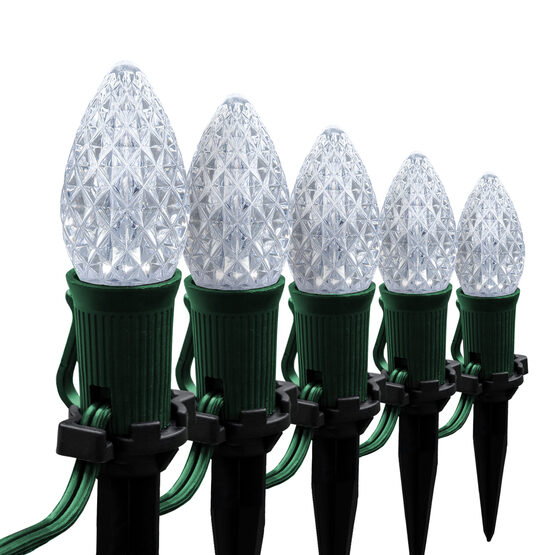 "OptiCore C7 LED Walkway Lights, Cool White, 4.5"" Stakes, 25'"