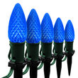 "OptiCore C9 LED Walkway Lights, Blue, 4.5"" Stakes, 25'"
