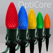 "OptiCore C9 LED Walkway Lights, Multicolor, 4.5"" Stakes, 25'"