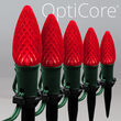 "OptiCore C9 LED Walkway Lights, Red, 4.5"" Stakes, 25'"