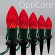 """OptiCore C7 LED Walkway Lights, Red, 4.5"""" Stakes, 25'"""