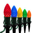 """OptiCore C7 LED Walkway Lights, Multicolor, 4.5"""" Stakes, 25'"""