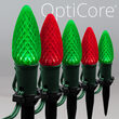 "OptiCore C9 LED Walkway Lights, Green / Red, 4.5"" Stakes, 50'"