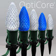 "OptiCore TM C9 LED Walkway Lights, Blue / Cool White, 4.5"" Stakes"