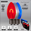"FlexFilament TM C9 Shatterproof LED Walkway Lights, Red / White / Blue, 4.5"" Stakes, 15'"