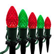 "OptiCore C7 LED Walkway Lights, Green / Red, 4.5"" Stakes, 50'"