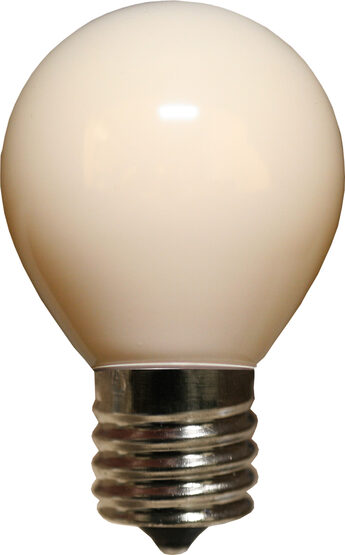 S11 Patio Light Bulbs, White Opaque