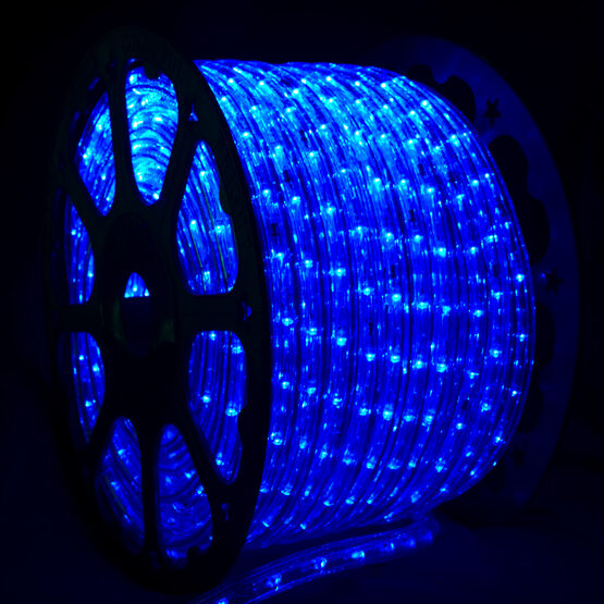 blue led rope light 120 volt yard envy. Black Bedroom Furniture Sets. Home Design Ideas