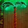 2.5' Deluxe Rope Light LED Lighted Palm Tree with Green Canopy