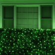4' x 6' 5mm LED Net Lights, Green, Green Wire