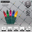 4' x 8' Net Lights, Multicolor, Green Wire