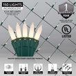 4' x 6' Net Lights, White Frost, Green Wire