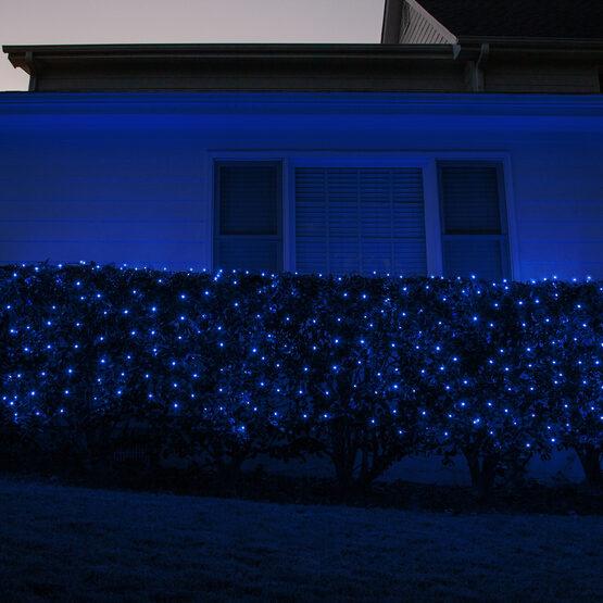 4' x 6' Net Lights, Blue, Green Wire