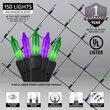 4' x 6' Net Lights, Purple, Green, Black Wire