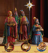 Deluxe Three Kings with Gifts, 4 Piece Set