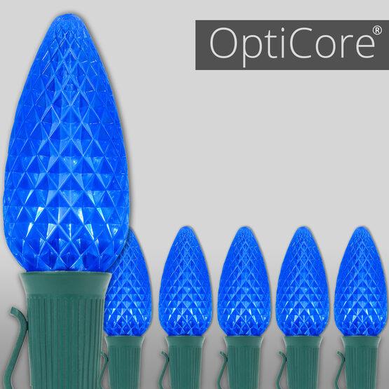 OptiCore C9 Commercial LED String Lights, Blue, 25 Lights, 25'