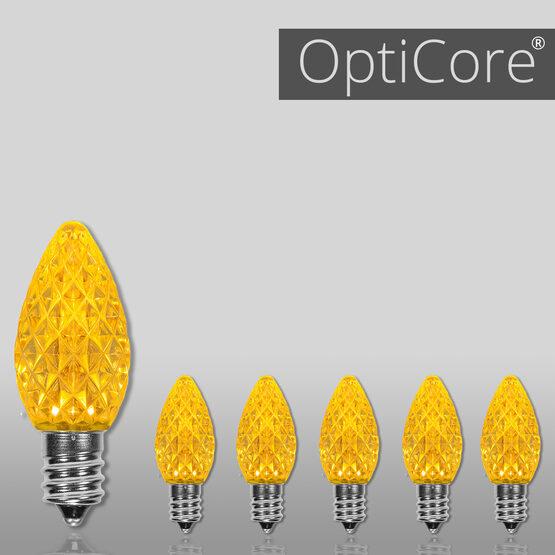 C7 OptiCore LED Light Bulbs, Gold