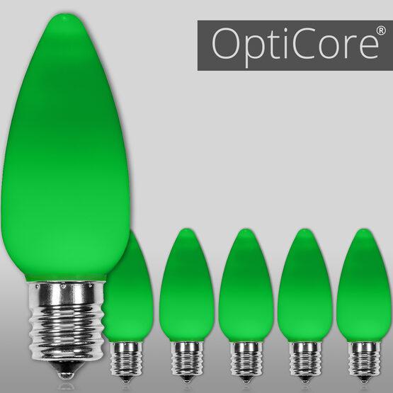 C9 Smooth OptiCore LED Light Bulbs, Green