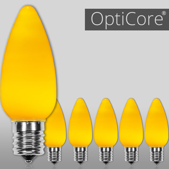 C9 Smooth OptiCore LED Light Bulbs, Gold