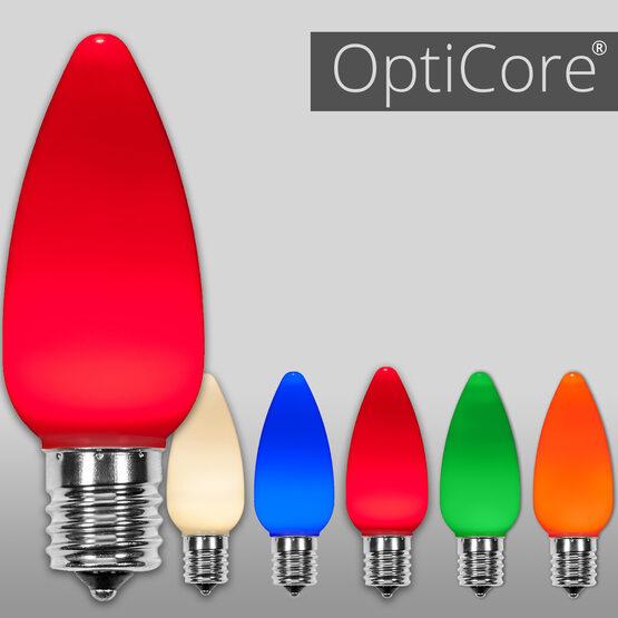 C9 Smooth OptiCore LED Light Bulbs, Multicolor