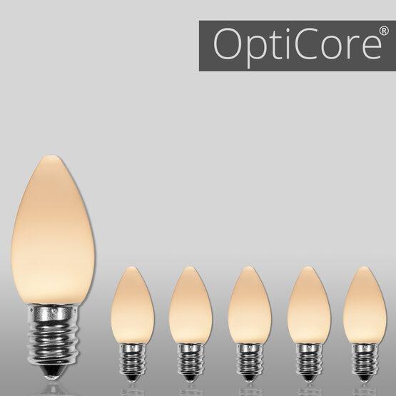 C7 Smooth OptiCore LED Light Bulbs, Warm White