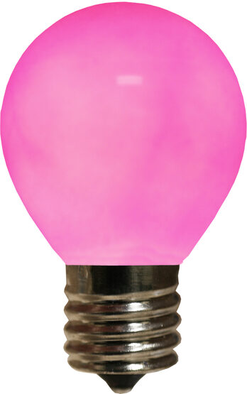 S11 Colored Party Bulbs, Purple Opaque