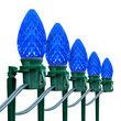 "OptiCore C7 LED Walkway Lights, Blue, 7.5"" Stakes, 100'"