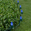 "OptiCore C7 LED Walkway Lights, Blue, 7.5"" Stakes, 100'"