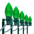 "OptiCore C7 LED Walkway Lights, Green, 7.5"" Stakes, 100'"