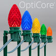 "OptiCore C7 LED Walkway Lights, Multicolor, 7.5"" Stakes, 100'"
