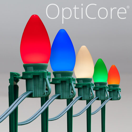 """Smooth OptiCore C7 LED Walkway Lights, Multicolor, 7.5"""" Stakes"""
