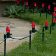 "OptiCore C7 LED Walkway Lights, Red, 7.5"" Stakes"