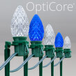 "OptiCore C7 LED Walkway Lights, Blue / Cool White, 7.5"" Stakes, 100'"