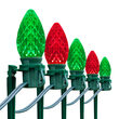 """OptiCore C7 LED Walkway Lights, Green / Red, 7.5"""" Stakes, 100'"""