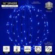 "16"" Light Ball, Fold Flat Blue Frame, Blue LED"