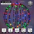 "16"" Light Ball, Fold Flat Black Frame, Multicolor LED"