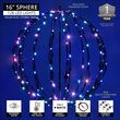 "16"" Light Ball, Fold Flat Black Frame, Multi-Function RGB LED"