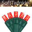SoftTwinkle Wide Angle LED Mini Lights, Red, Green Wire