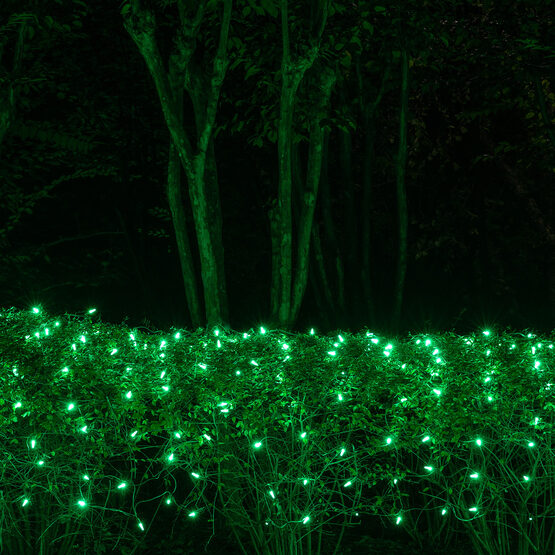 4' x 6' M5 LED Net Lights, Green, Green Wire