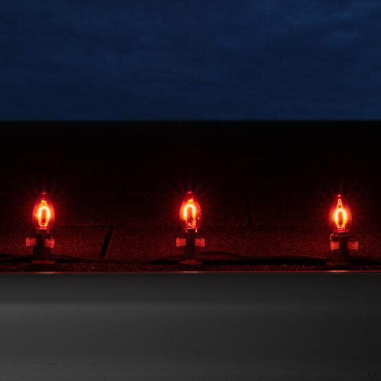 C7 Shatterproof FlexFilament Vintage LED Light Bulb, Red