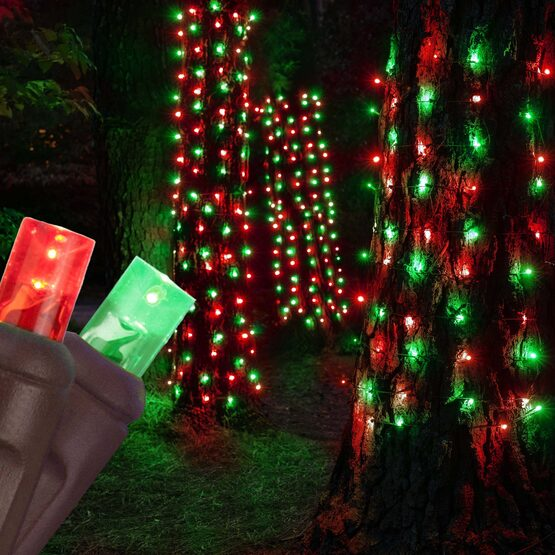 "LED StretchNet Pro Trunk Wrap Lights, 20"" x 45"", Red, Green, Brown Wire"