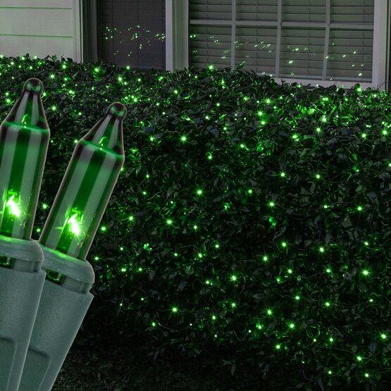 4' x 6' Net Lights, Green, Green Wire