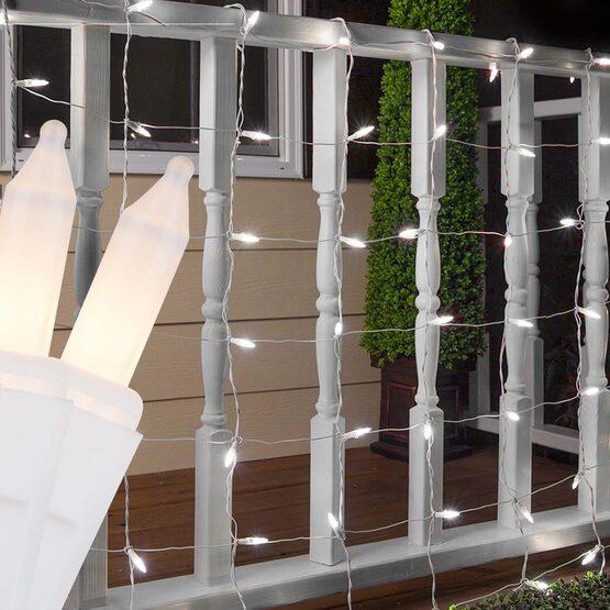4' x 8' Net Lights, White Frost, White Wire