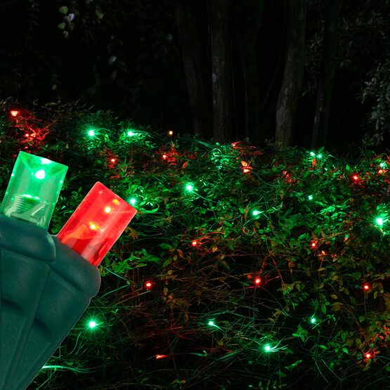 4' x 6' 5mm LED Net Lights, Red, Green, Green Wire