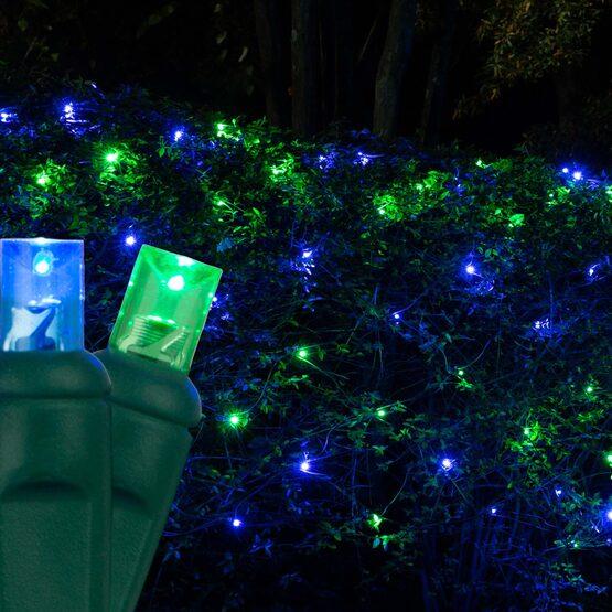 4' x 6' 5mm LED Net Lights, Blue, Green, Green Wire