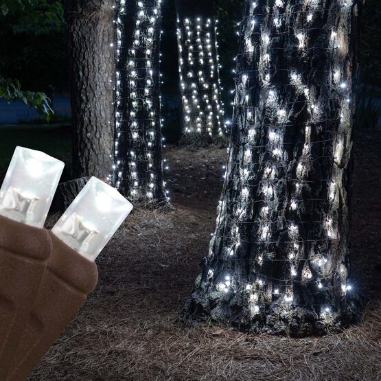 LED Trunk Wrap Lights, 2' x 6', Cool White, Brown Wire