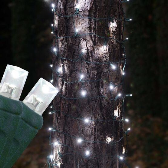 LED Trunk Wrap Lights, 2' x 6', Cool White, Green Wire
